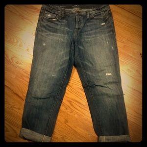 LOFT boyfriend cut jeans size 29/8 button fly EUC